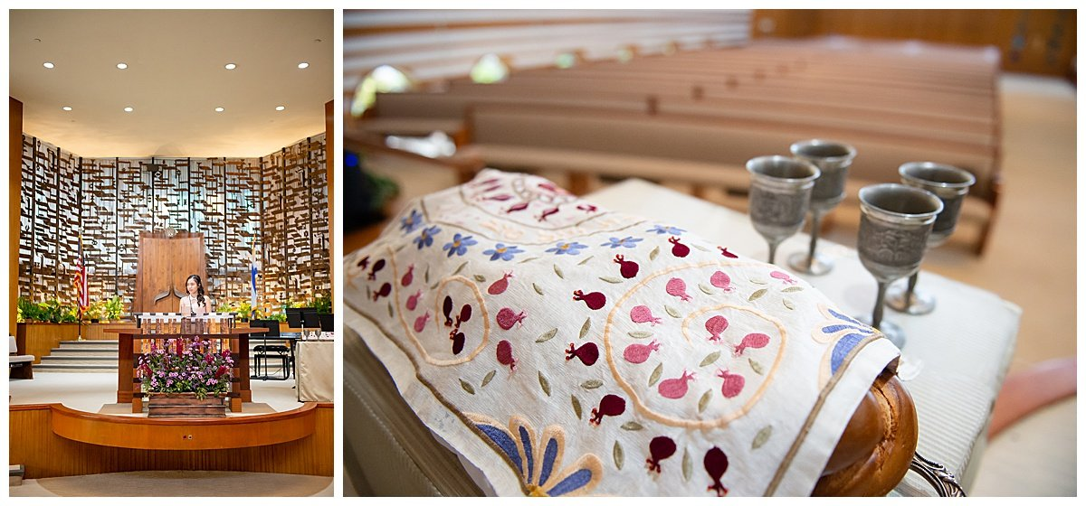 Temple detail shots for Bay Area Bar and Bat Mitzvah photography