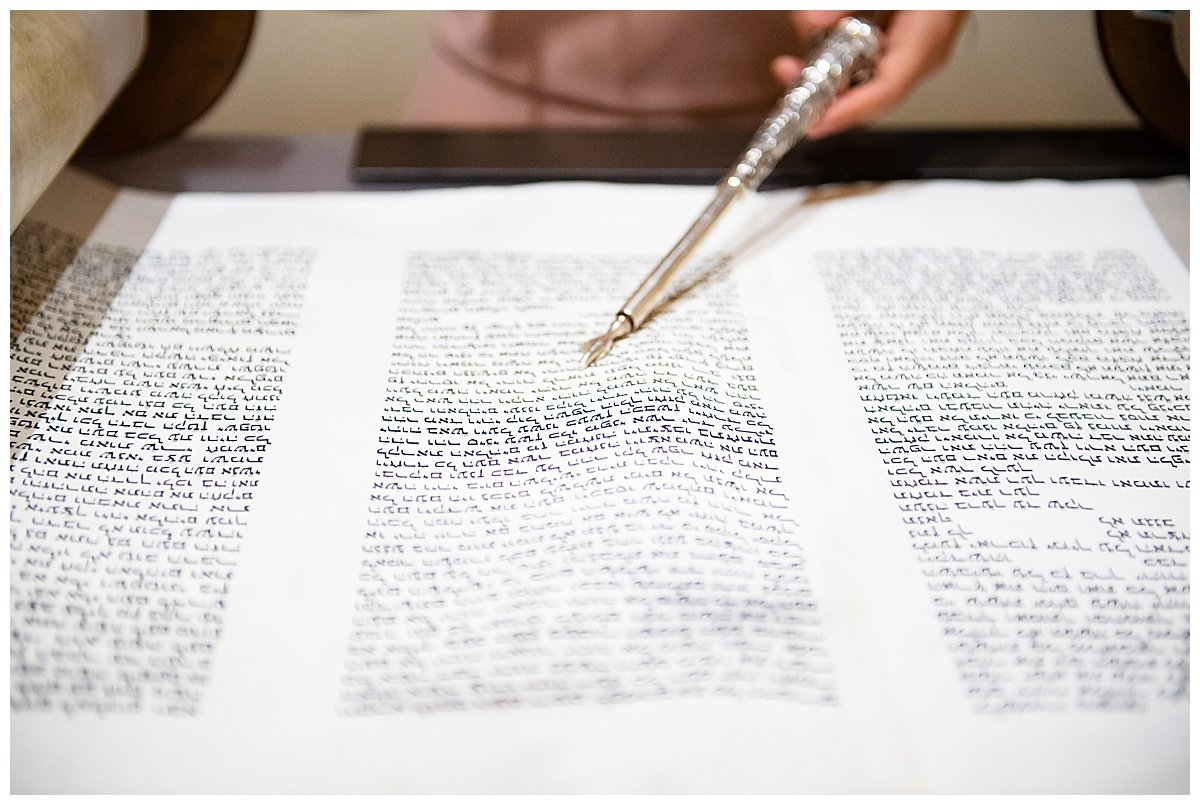 Close up of readings for Bay Area Bar and Bat Mitzvah photography by chloe jackman photography