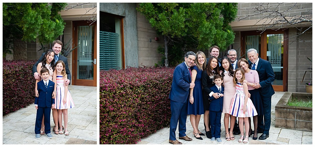 Family group shots for Bay Area Bar and Bat Mitzvah photography