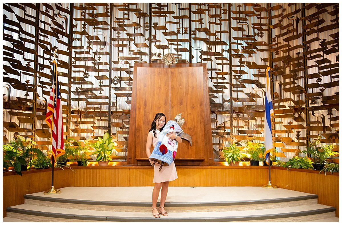 Pre bat mitzvah photo inside temple for Bay Area Bar and Bat Mitzvah photography by chloe jackman photography