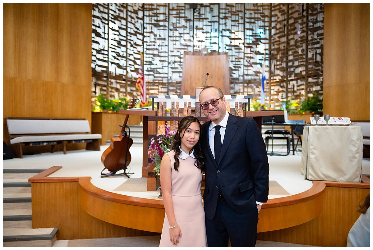 Rabi and student during Bay Area Bar and Bat Mitzvah photography by chloe jackman photography
