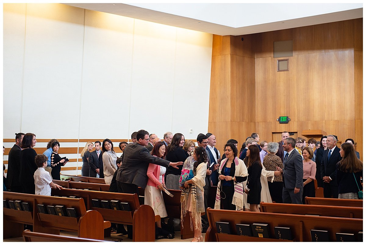 Guests are proud of bat mitzvah while Bay Area Bar and Bat Mitzvah photography is happening