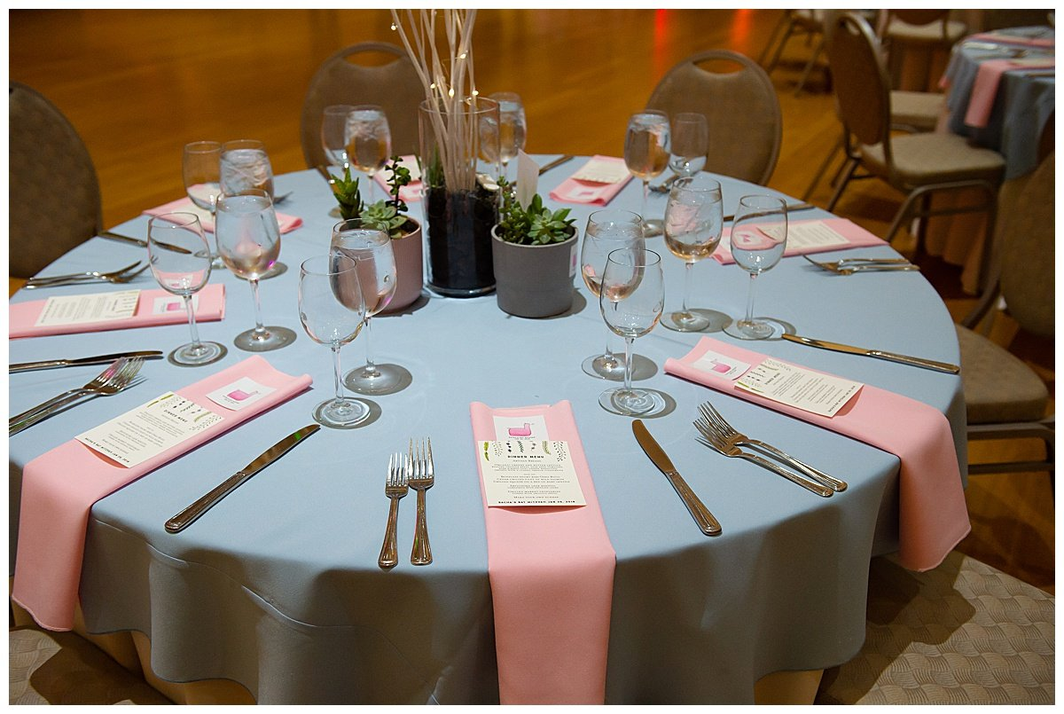 Dinner table at Bay Area Bar and Bat Mitzvah photography by chloe jackman photography