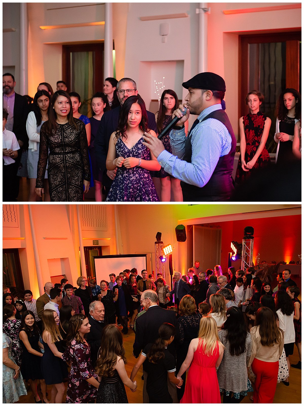 Guests dancing at Bay Area Bar and Bat Mitzvah photography by chloe jackman photography