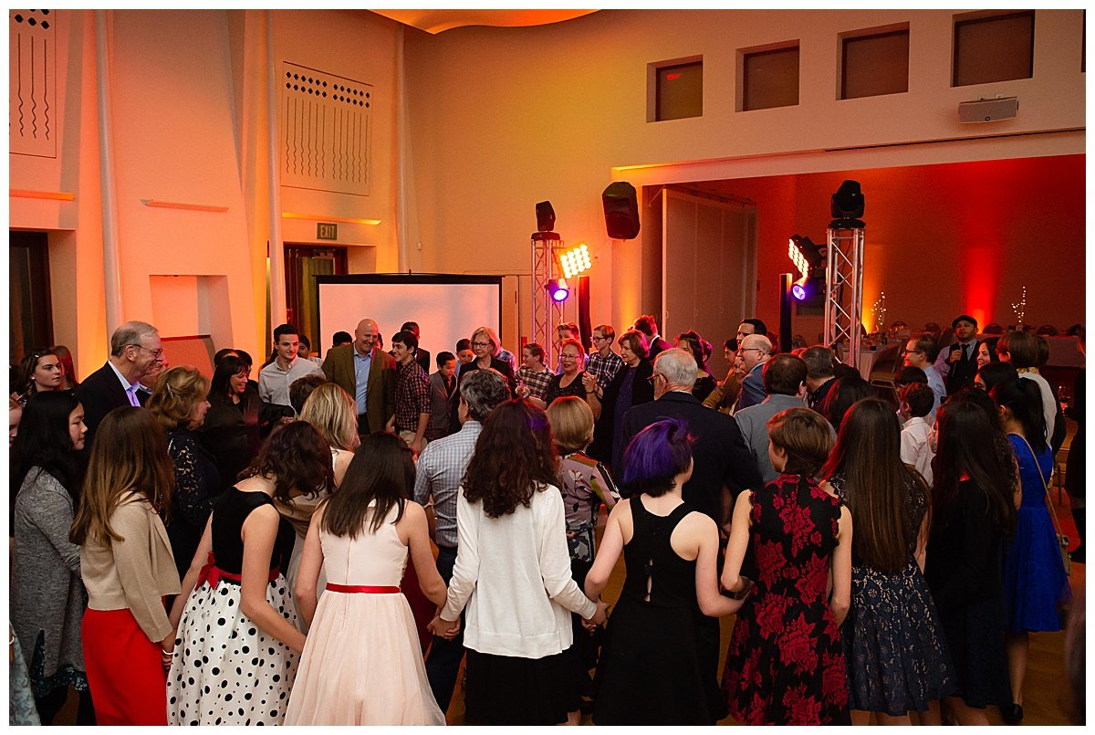 Begining of chair dance at Bay Area Bar and Bat Mitzvah photography