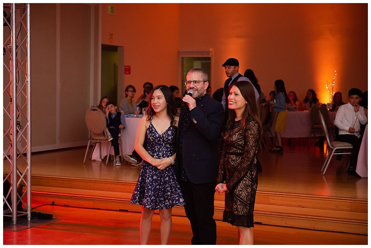 Parents give speech honoring daughter taken at Bay Area Bar and Bat Mitzvah photography by chloe jackman photography