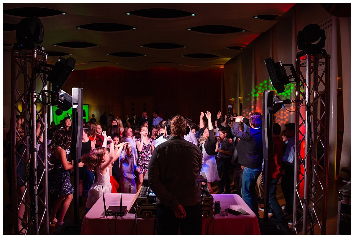 Guests dance at Bay Area Bar and Bat Mitzvah photography by chloe jackman photography
