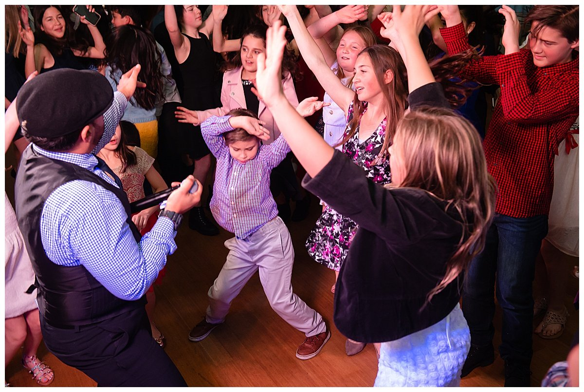 Kids dance at Bay Area Bar and Bat Mitzvah photography