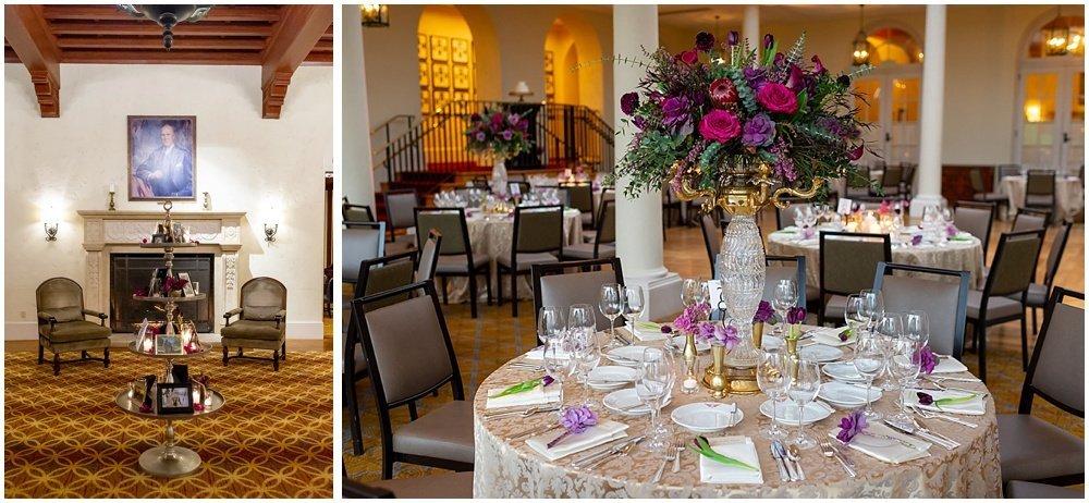 Reception tables at Olympic Club Wedding