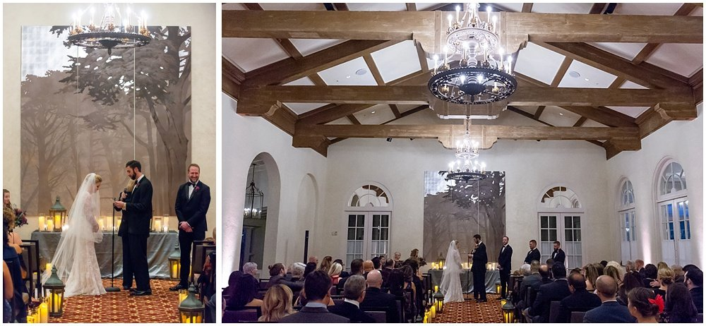 Bride and groom say vows at Olympic Club Wedding