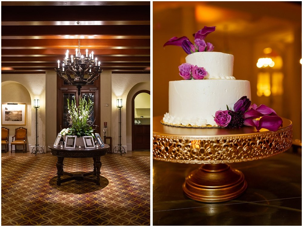 detail shots of reception and cake