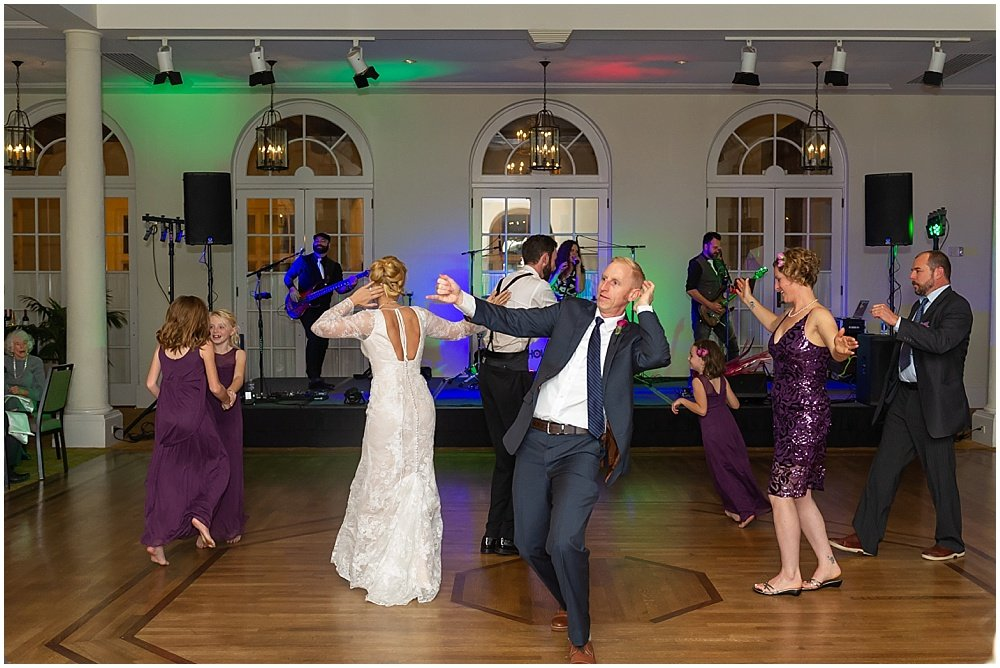 Guests dance at Olympic Club Wedding reception