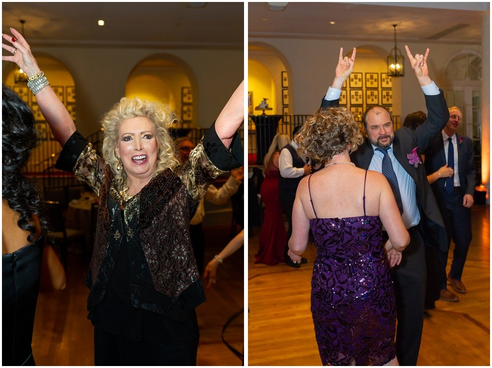 Happy guests dance at Olympic Club Wedding