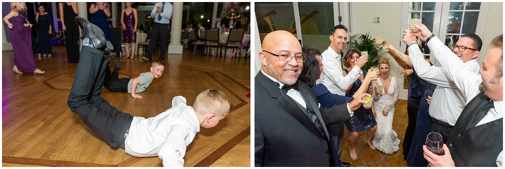 Kids do the worm on the dance floor