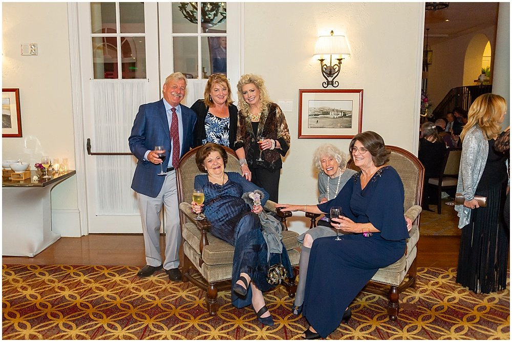 Family enjoys wedding reception Olympic Club Wedding