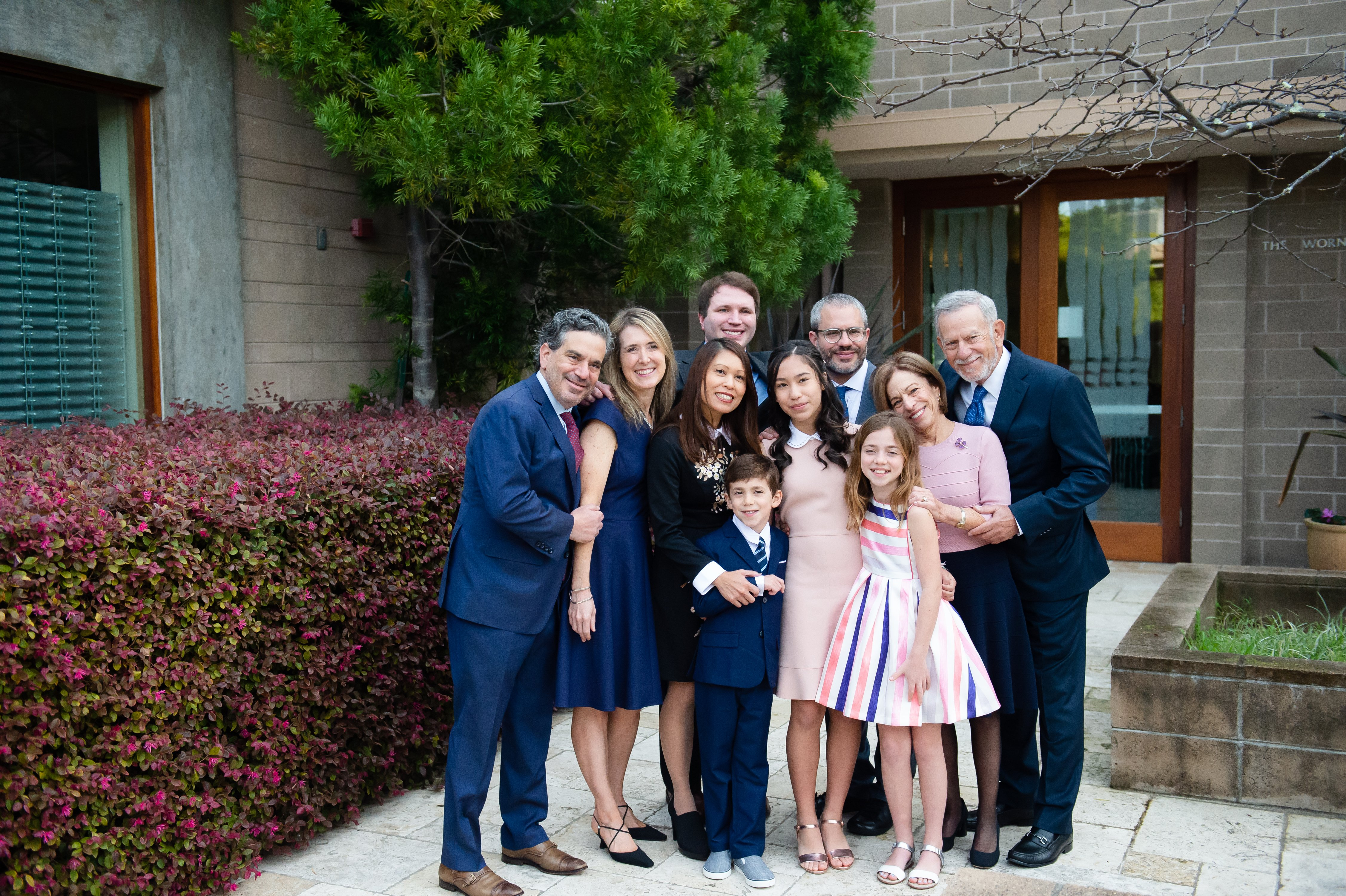 Family photo at bay area bat and bar mitzvah photography by chloe jackman photography