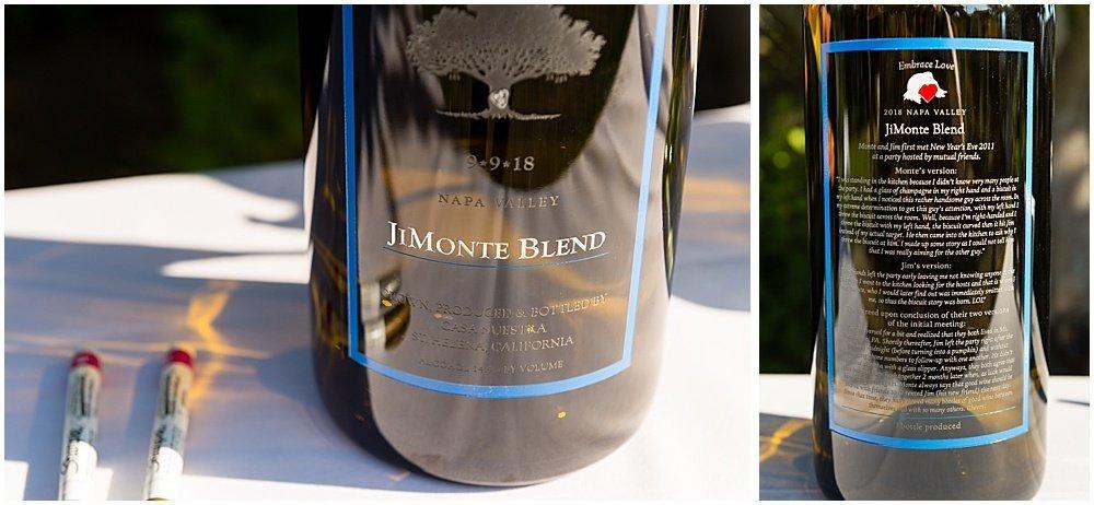 custom wine blend for Tre Posti Wedding by chloe jackman photography