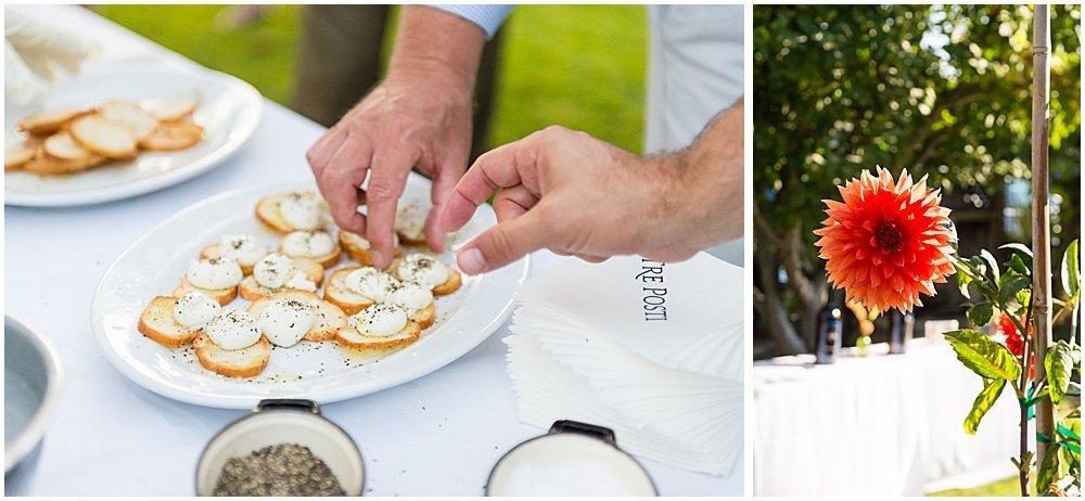Snacks before Tre Posti Wedding