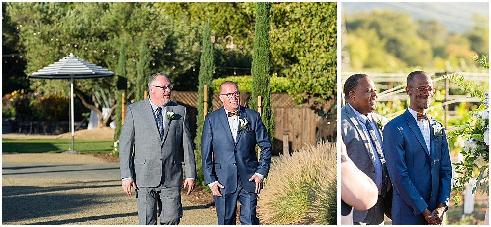 Grooms smile at Tre Posti Wedding by chloe jackman photography