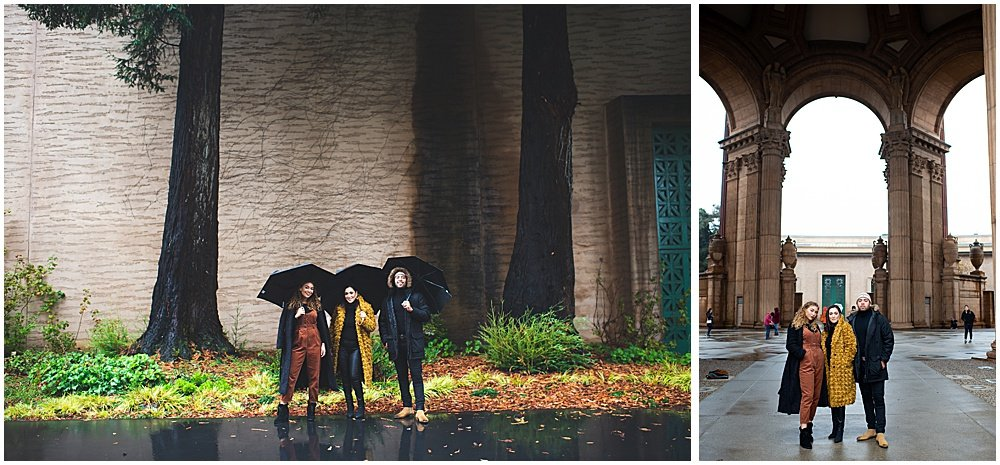 palace of fine arts family in rain Bay Area Family Photography by chloe jackman photography