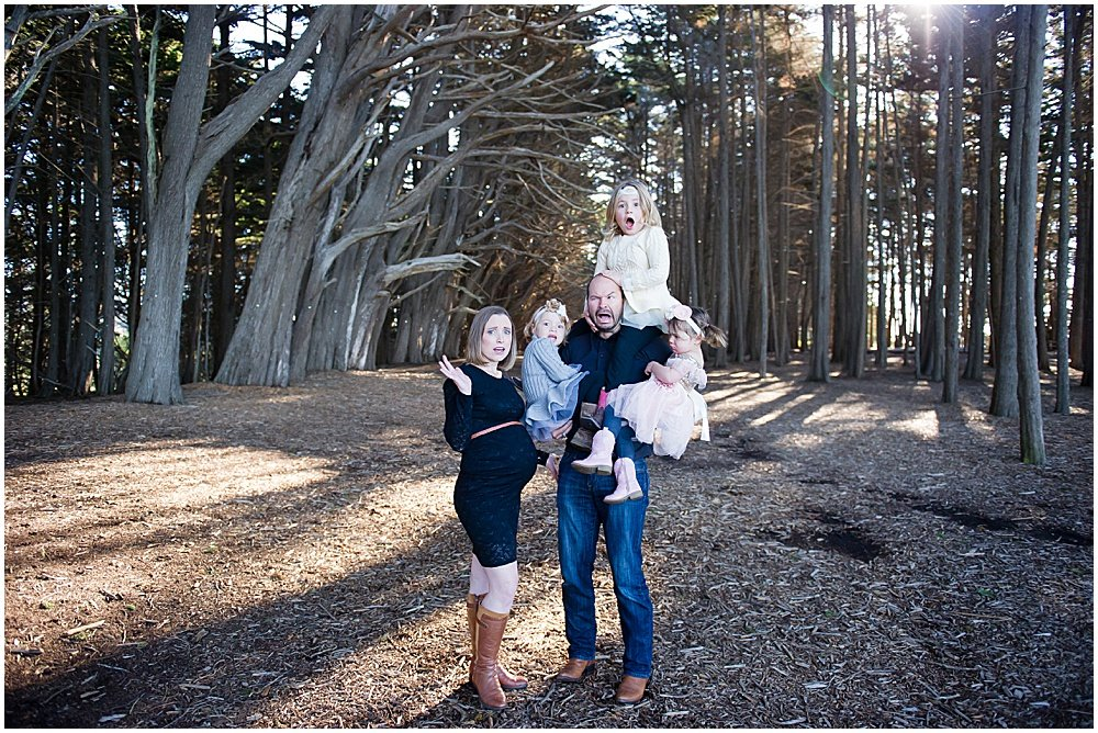 funny family photo Bay Area Family Photography by chloe jackman photography