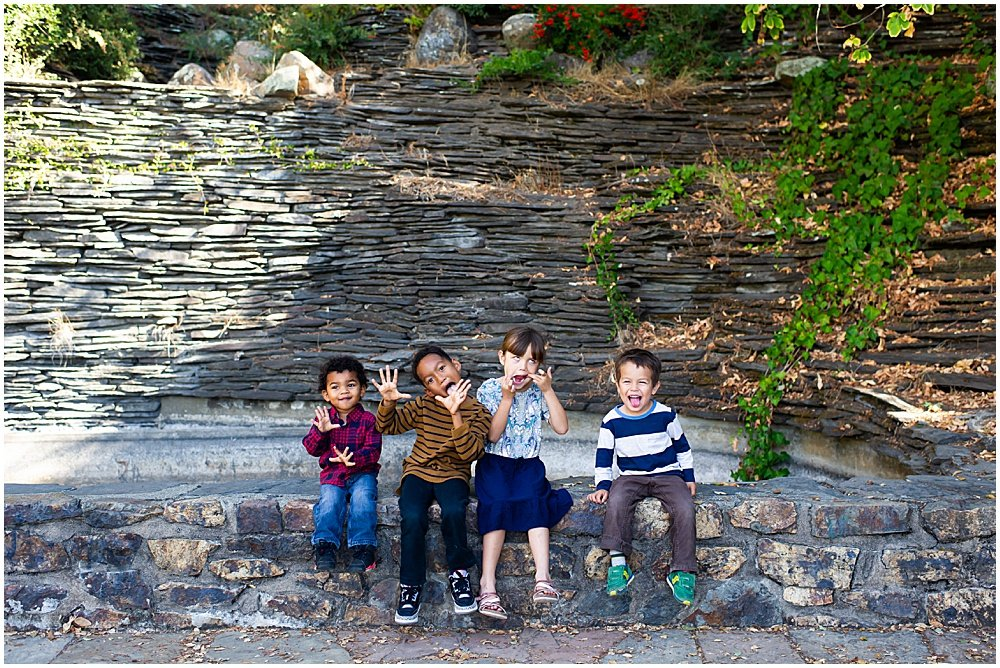 kids being silly for Bay Area Family Photography by chloe jackman photography