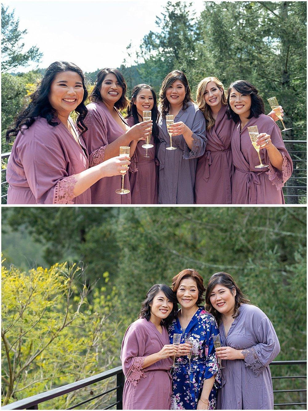 group photos at Deer Park Villa Wedding Fairfax