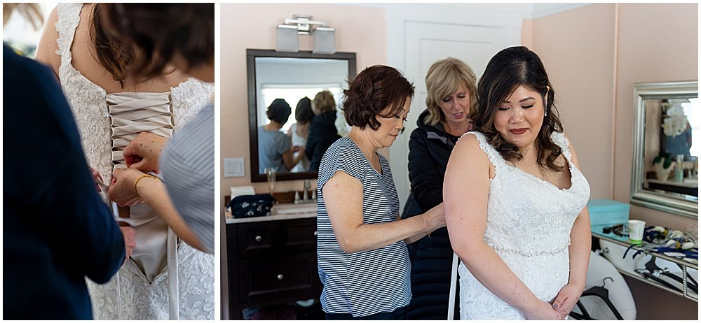 bride gets ready at Deer Park Villa Wedding Fairfax