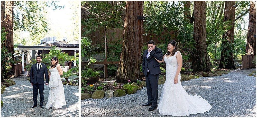 first looks at Deer Park Villa Wedding Fairfax