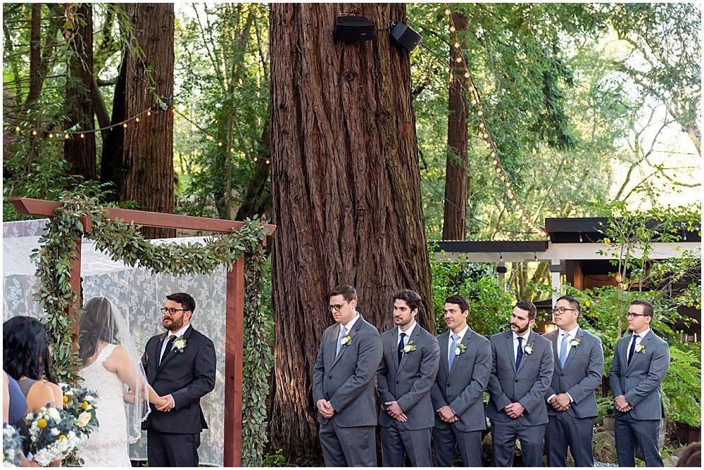 groomsmen get teary eyed at Deer Park Villa Wedding Fairfax