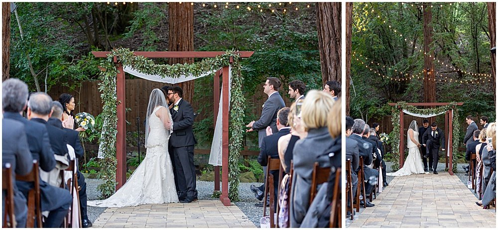 kiss and stomp at Deer Park Villa Wedding Fairfax