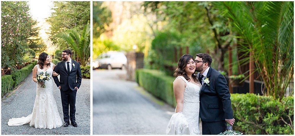 moments outside of Deer Park Villa Wedding Fairfax