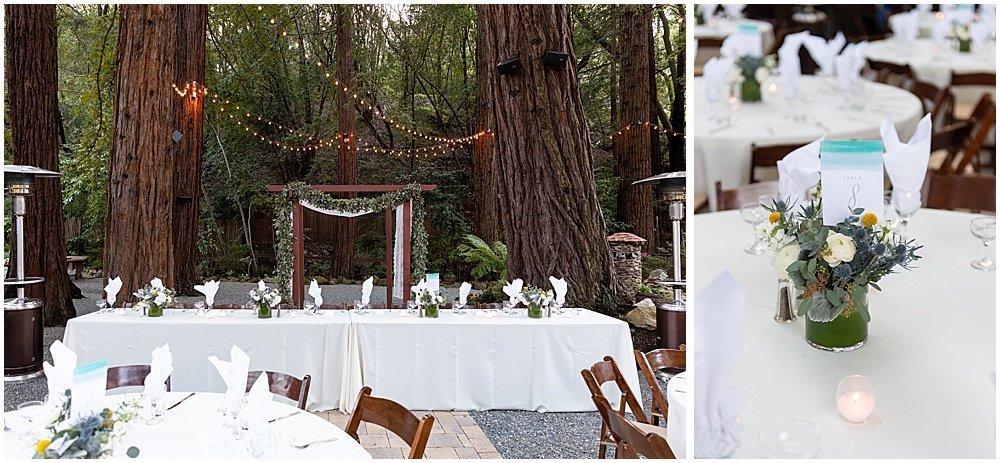 Deer Park Villa Wedding Fairfax venue set up