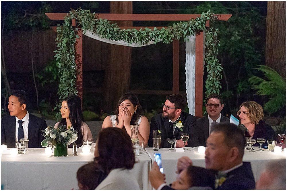 laughter at Deer Park Villa Wedding Fairfax speeches