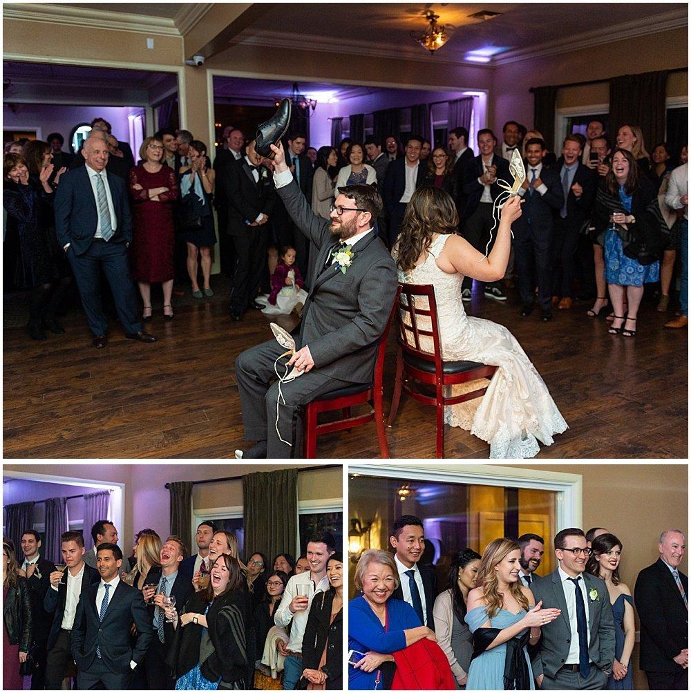 shoe game answer at Deer Park Villa Wedding Fairfax
