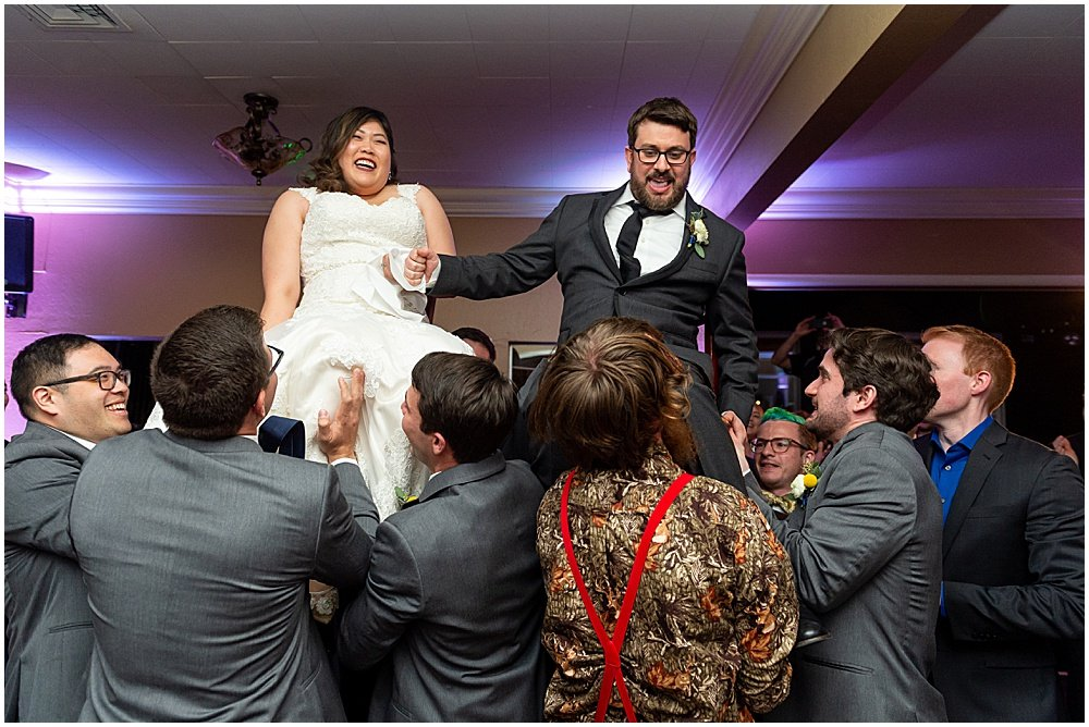 chair dance at Deer Park Villa Wedding Fairfax by chloe jackman photography