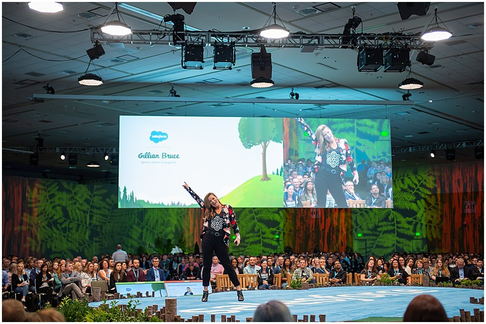 Key note speakers for salesforce event Bay Area Event Photography by chloe jackman photography