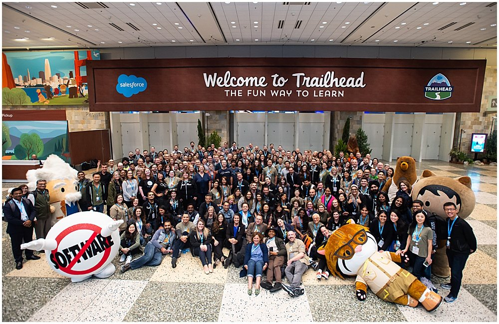 big group shot for trail head Bay Area Event Photography by chloe jackman photography