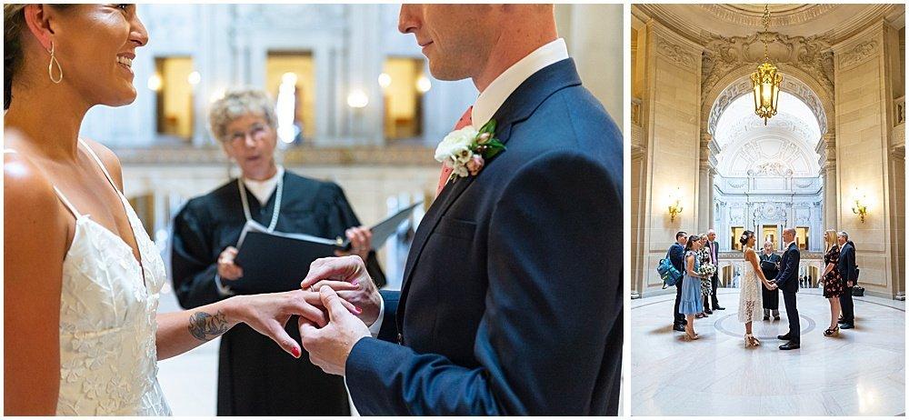 exchange of rings sf city hall weddings