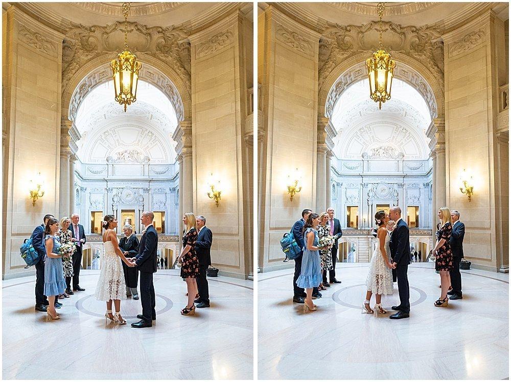 sf city hall weddings in the rotunda