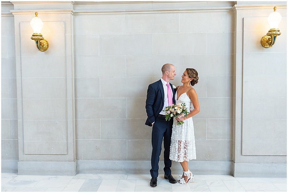bride and groom sf city hall weddings
