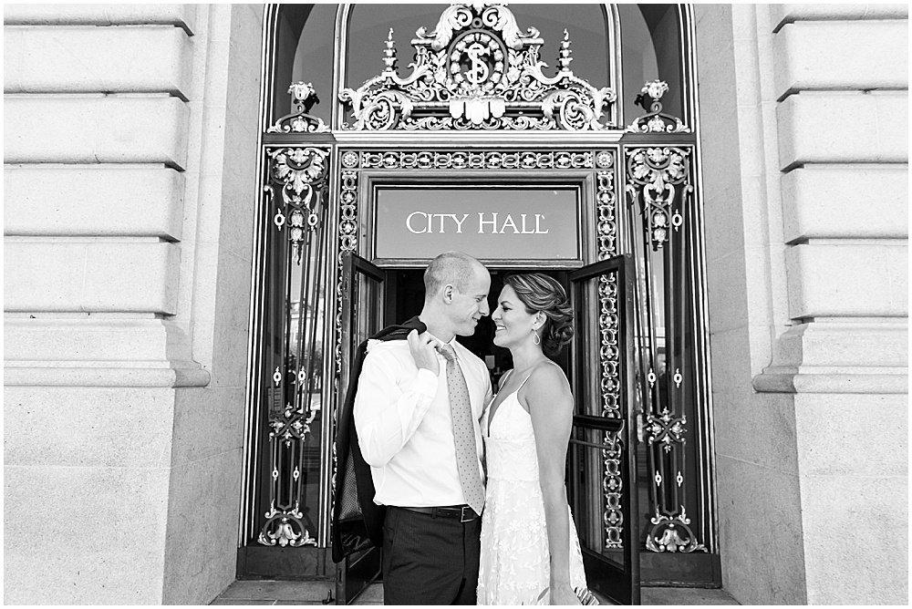 outside sf city hall weddings
