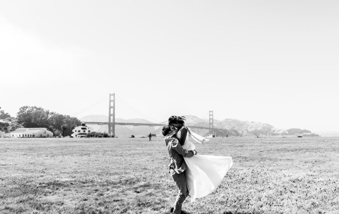 after palace of fine arts wedding photos at crissy field by chloe jackman photography
