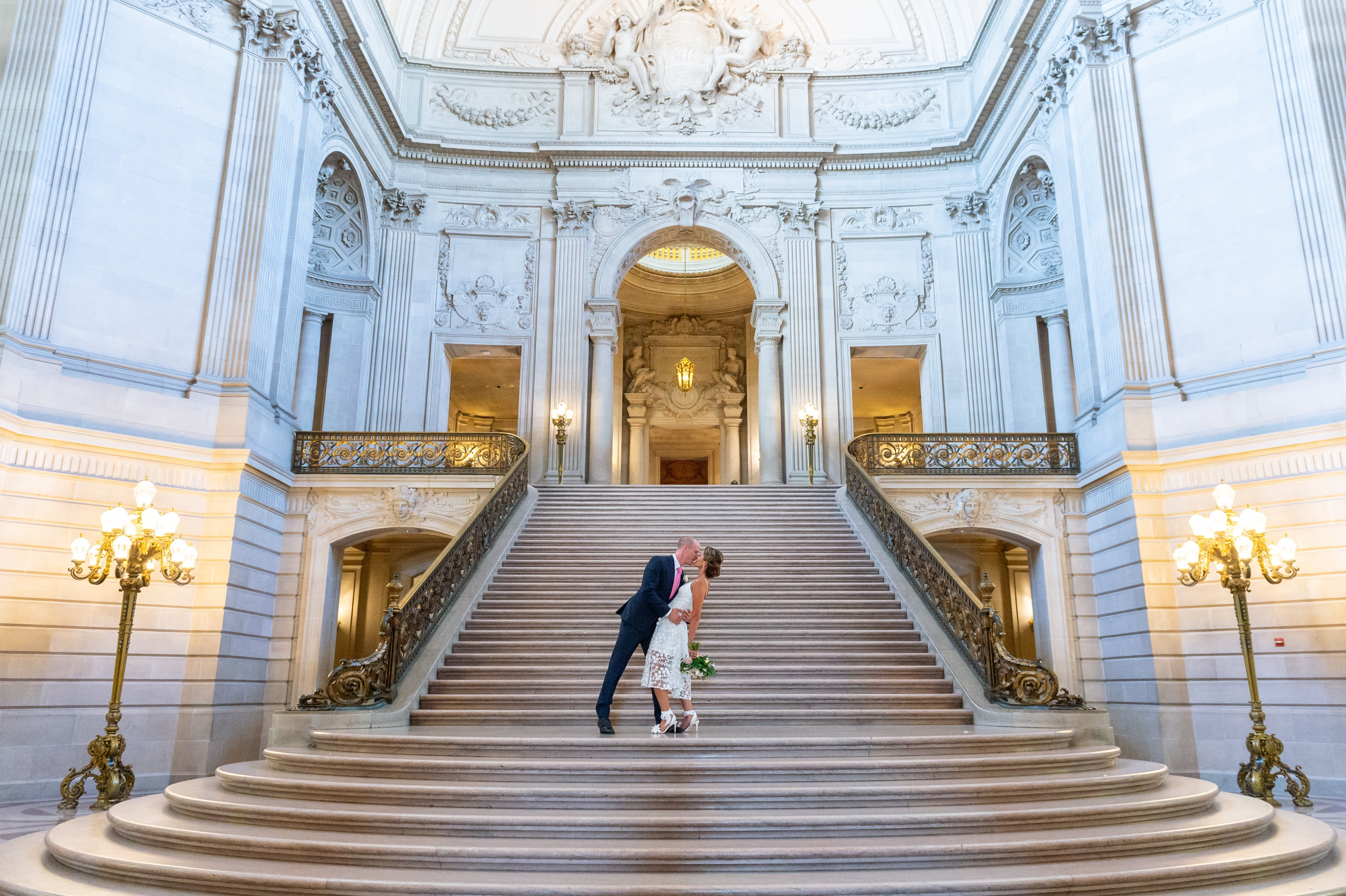 City hall weddings stair shot by chloe jackman photography