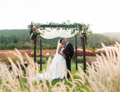 An Autumnal Goldeneye Winery Wedding