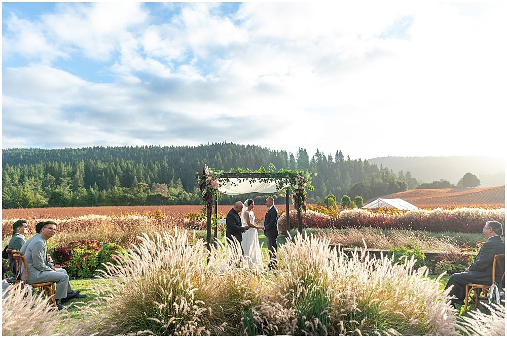 Goldeneye Winery wedding ceremony