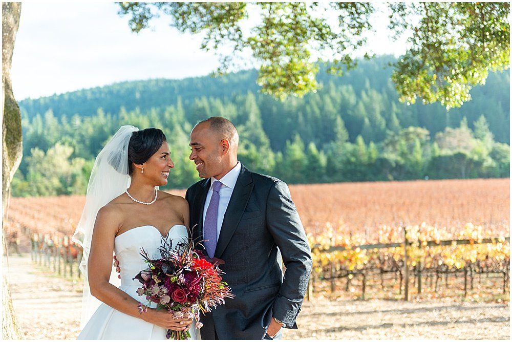 Goldeneye Winery Wedding in the vineyards