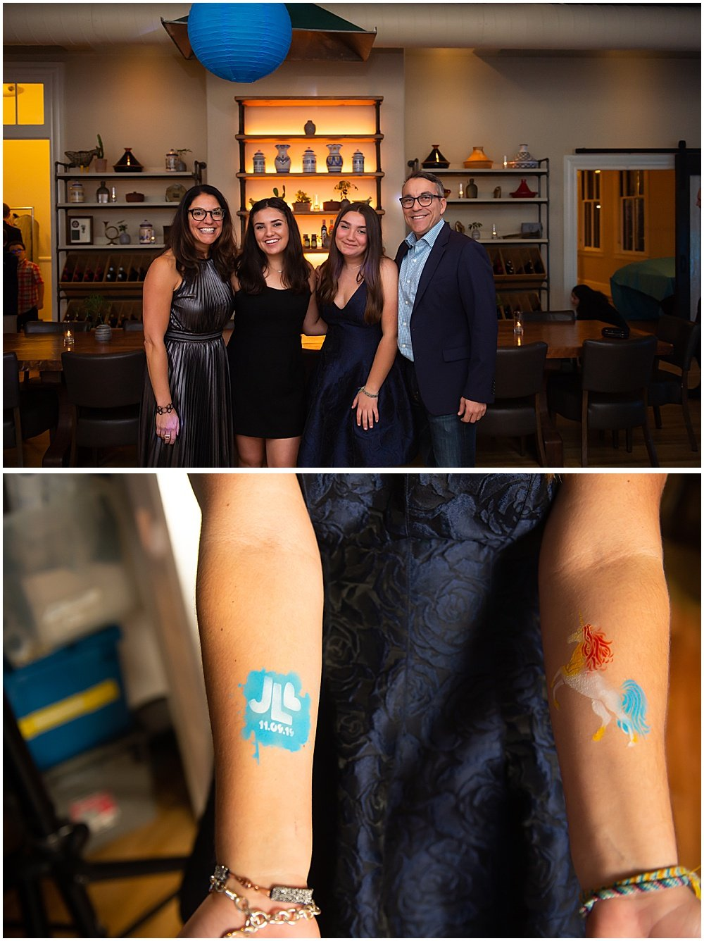 Spray-on tattoo for bat mitzvah