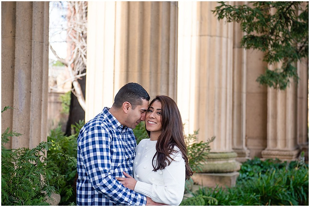 Palace of Fine Arts San Francisco engagement photos
