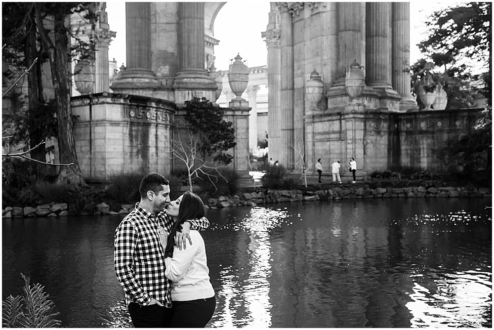 Reflecting pool at the palace of fine arts San Francisco